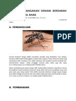 Prinsip Penanganan Demam Berdarah Dengue Pada Anak