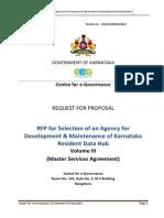 Rfp for Selection of an Agency for Development and Maintenance of Karnataka Resident Data Hub Volume III