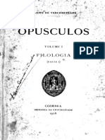 Opusculos - Volume I Filologia