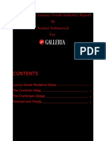 China Luxury Industry Report for DFS Galleria