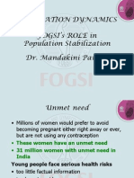B FOGSI and Population Stabilization