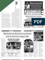 Versión impresa del periódico El mexiquense  21 octubre 2013