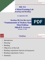 Sheet Metal-Bending Lab Presentation