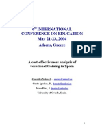 A cost-effectiveness analysis of vocational training in Spain. Gonzalez  Veiga, M.C; Cueto, B. ; Mato, F.J.