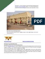 PLD1600 Concrete Batching