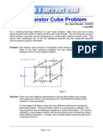 Resistor Cube Problem