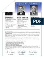 2013 Washington State Legislature, Report to the 19th District
