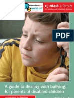 Contact a Family - A guide to dealing with bullying