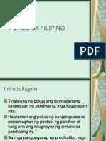 POKUS SA FILIPINO