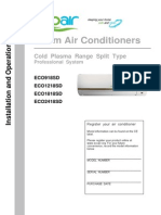 Cold Plasma Range Installation Manual