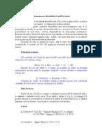 Determinarea Dioxidului de Sulf in Vinuri