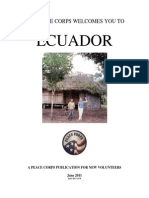 Peace Corps Ecuador Welcome Book  |  June 2011 (CCD June 2013)