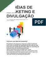 50 IDÉIAS DE MARKETING E DIVULGAÇÃO