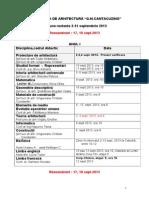 Transmite Modificare Sesiune Toamna 2-15 Sept 2013 Rexaminare 17 Si 18 Sept 2013