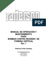 Manual de Oper y Mant de Bombas de Turb Vert Cont Incend PATERSON