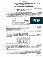 hydraulics and pneumatics question paper