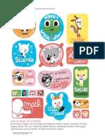 Notebook Stickers