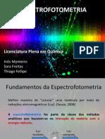 Espectrofotometria Ines Thiago Sara