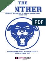 Panthers Programme Vol 1