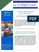 CWH Sports Drinks FAQ Sheet