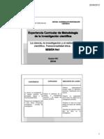 Ciencia_investigacion y Metodo Cientifico Sesion 1