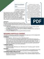 Academic Leadership Academy Portfolio 2013