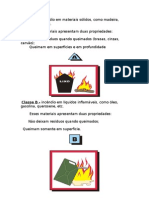Classes de Incendios