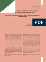 SR - Elektronska sredstva komunikacije u funkciji unapređenja poslovne komunikacije