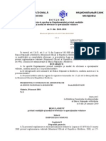Regulamentul privind condiţiile şi modul de efectuare a operaţiunilor valutare