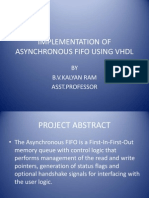 Implementation of asynchronous fifo using VHDL
