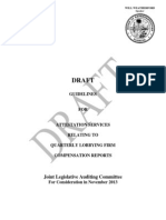 Draft Guidelines for Lobbyist Compensation Audits