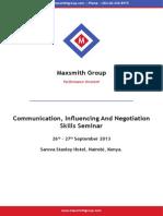Communication Influencing and Negotiation Skills Seminar_Kenya, September 2013