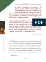 Codesido. El Caso Segura. Justicia Militar vs Justicia Civil en La Segunda Mitad Del Siglo XIX