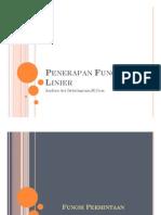 6 - Penerapan Fungsi Linier (1)