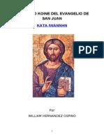 Manual de Griego Koine Del Evangelio de San Juan