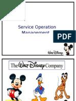 Walt Disney -Service Operation Mgmt