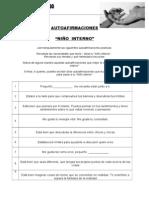 AUTOAFIRMACIONES NIÑO INTERNO  (Mas)