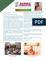 Newsletter - August 2013 - Alpha Mind Power