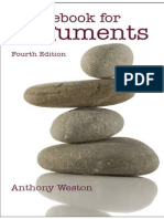 Anthony Weston - A Rulebook for Arguments (4th Edition)