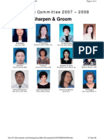 Tawau Toastmasters Club Executive Committee 2007/2008