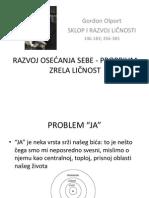 RAZVOJ OSEĆANJA SEBE - PROPRIUM, ZRELA LIČNOST prezentacija
