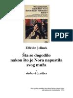 Elfride Jelinek - Sta se dogodilo nakon što je Nora napustila svog muža