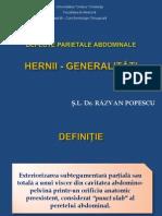 Semiologie chirurgicala - Hernii Generalitati