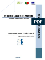 ESTAGIOS EMPREGO-REGULAMENTO