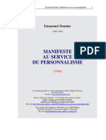 Mounier Manifeste Pers