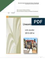 LINEAMIENTOS 2013-2014