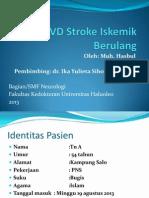 CVD Stroke Iskemik Berulang