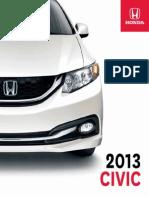 CIVIC Brochure 2013 en Sedan