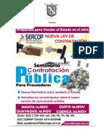 """SEMINARIO TALLER AVANZADO DE COMPRAS PÚBLICAS  PARA EMPRESAS PROVEEDORAS  """"Cómo venderle más y mejor al Sector Público en el 2.014"""""""