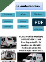 Tipos de Ambulancias
